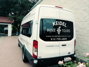 Keidel Wine Tours Van Back Left