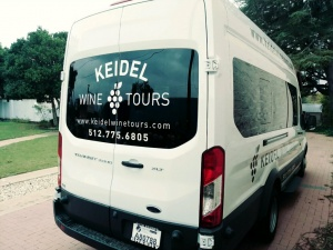 Keidel Wine Tours Van Back Right