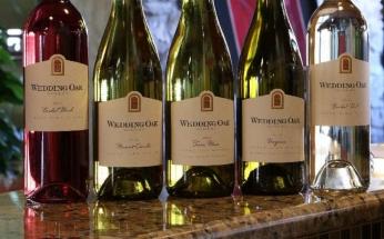 Wedding Oak Wine Bottles